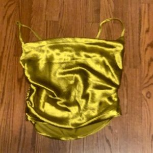 Nasty Gal  gold metallic tank top